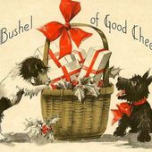 Christmas Greeting Card, Scotty dog