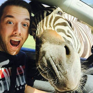 Got pulled over by a Zebra. Took a Selfie!